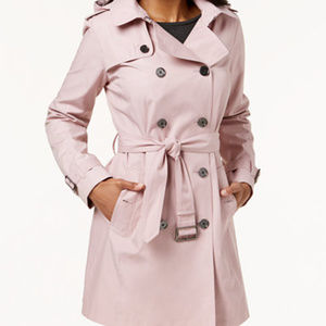 Michael Kors Pale Pink Double-Breasted Trench Coat